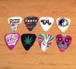 Grover Allman Hippy, Flower Power, Peace, Love, Music, Picks Pack of 8 Brand New